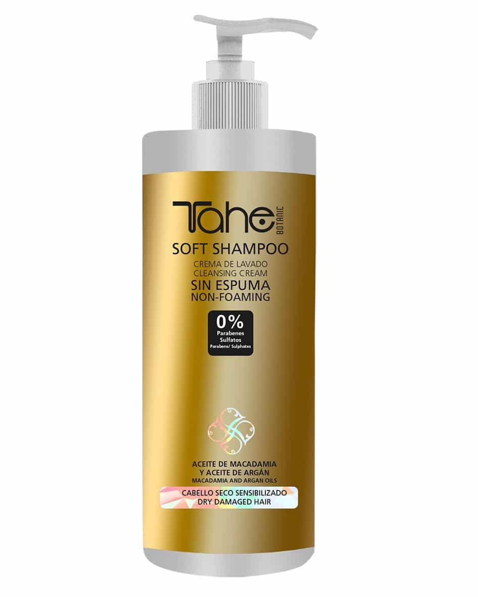Tahé crème de lavage shampooing doux sans mousse cheveux secs